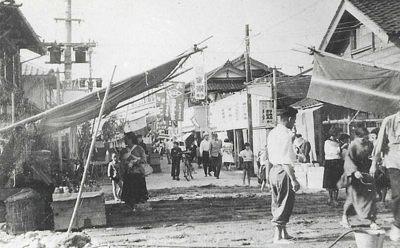 昭和29年当時の茶碗まつりの風景